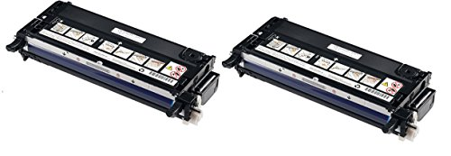 Dell 3110Cn Black Laser Combo Set Of 2 High Capacity And Good Quality Remanufactured Laser Toner Cartridges (2 Black) Replaces Dell 310-8092, 310-8094, 310-8098, 310-8096