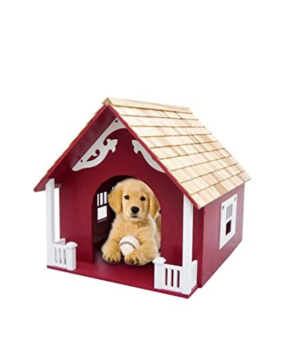 Home Bazaar Heart Dog House, Red