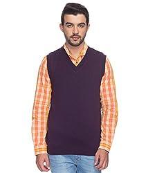 Raymond Men's Woolen Sweater (8907253093303_RMWY00489-V7_40_Violet)