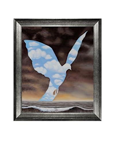 "René Magritte's La Grande Famille Framed Hand Painted Oil On Canvas, Multi, 29"" x 25"""
