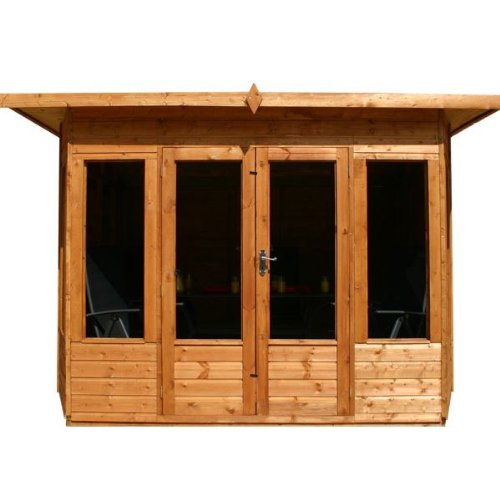10ft x 10ft Helios Shiplap Pent Wooden Garden Summerhouse - Brand New 10x10 Tongue and Groove Wood Summerhouses