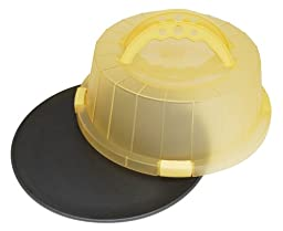 ProBake Teflon Platinum Non-Stick 12-Inch Cake and Pastry Carrier with Matching Lemon Yellow Cover and Handles