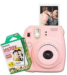 Fujifilm Instax Mini 8 instant Film Camera (Pink) With 20 sheet Film