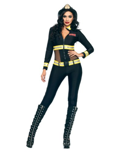 Red Blaze Firefighter Adult Costume Sm Adult Womens Costume