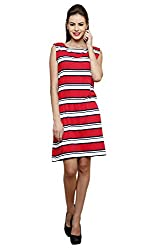 Rampwalk multicolour M cool and collected striped sleeveless dress