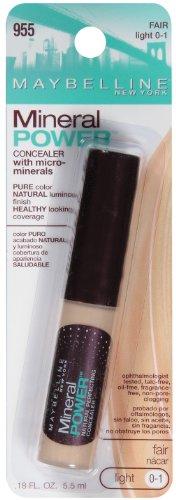 Maybelline New York Mineral Power Concealer, Fair, Light 0-1, 0.18 Fluid Ounce