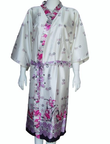 Pink lillies dressing gown
