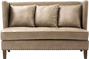 "Garrins Settee, 39""HX60""WX35""D, OREGON PUTTY"