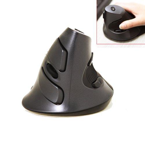 腱鞘炎防止 エルゴノミックマウス ワイヤレスレーザーマウス DPI切り替え可能 5ボタン 右利き用