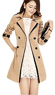 Uget Women's Elegant Long Trench Coat…
