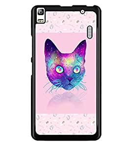 PrintDhaba Cat D-3464 Back Case Cover for LENOVO K3 NOTE (Multi-Coloured)