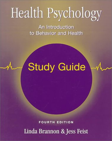 Health Psychology: An Introduction to Behaviour and Health