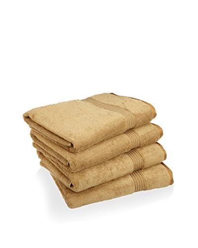 Superior 4-Piece 600 GSM Egyptian Cotton Bath Towel Set, Toast