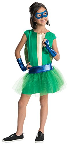 Rubies Teenage Mutant Ninja Turtles Deluxe Leonardo Tutu Dress Costume, Child Medium (Girls Ninja Turtle Costume compare prices)