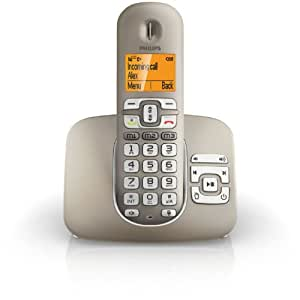 Philips XL3951S/DE Großtastentelefon (4,8 cm (1,8 Zoll) Display, Anrufbeantworter, Freisprechfunktion, ECO+ Mode) silber