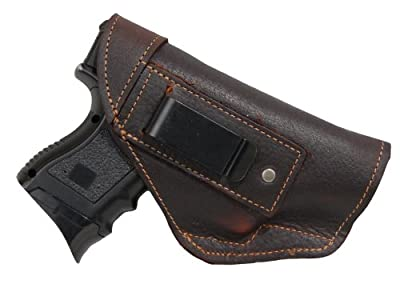 New Barsony Brown Leather IWB Holster + Magazine Pouch for Compact, Sub Compact 9mm 40 45