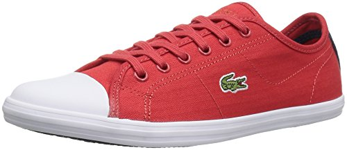 Lacoste Women's Ziane 316 1 Fashion Sneaker, Red, 6 M US