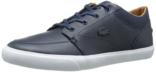 Lacoste Men's Bayliss Vulc Prm Casual Shoe Fashion Sneaker, Dark Blue/Dark Blue, 8 M US