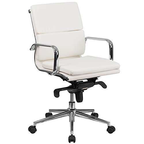 mid-back-white-leather-executive-swivel-office-chair-with-synchro-tilt-mechanism