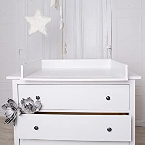 Bords Arrondis Table Langer Blanche Pour Commode Ikea Hemnes B B S Pu Riculture