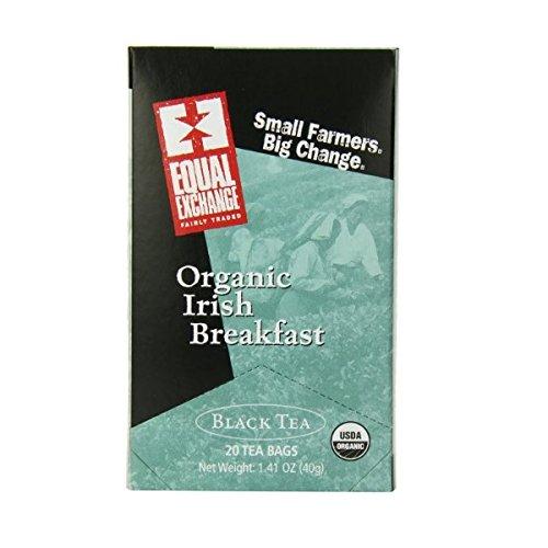 Equal Exchange Organic Teas C=Caffeine C Irish Breakfast Black Teas 20 Tea Bags (A)(Pack Of 6)