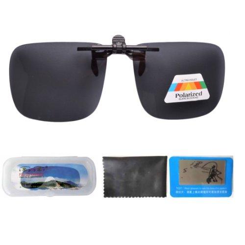 Eyekepper Große Sonnenbrillen-Clip für Brillenträger Grau