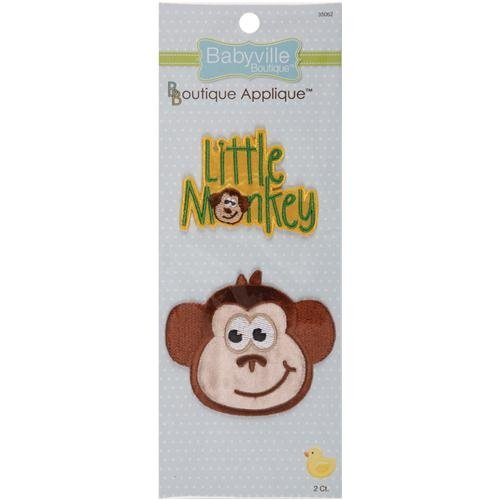 Babyville Boutique Appliques, Monkey and Little Monkey, 2 Count