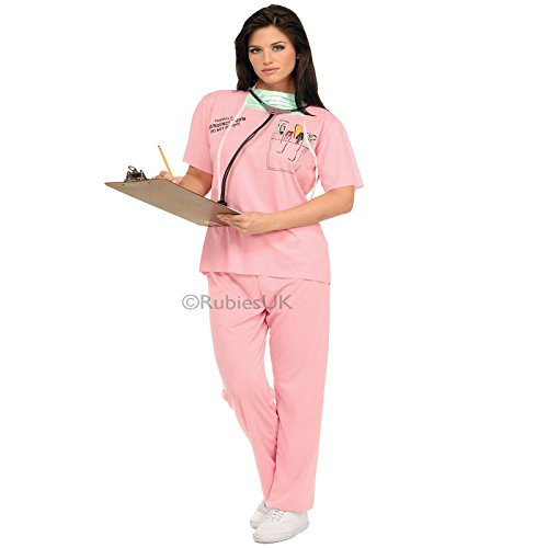 Rubies Womens ER Nurse Fancy Dress Costume Hospital Surgeon Uniform