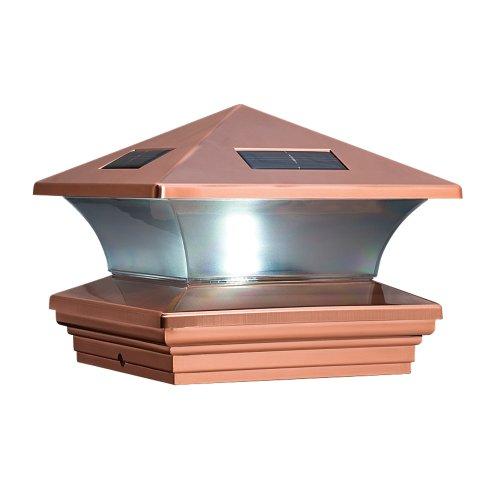 mcfarland cascade terratec solar post cap copper fits 6x6 inch post