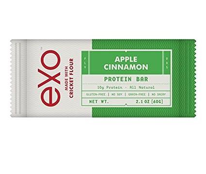 Exo Apple Cinnamon Insekten-Proteinriegel, 12er Pack (12 x 60 g)