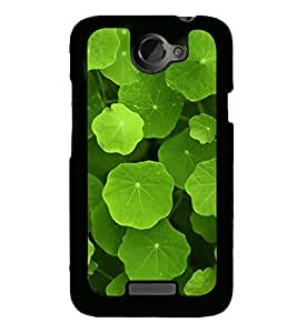 Green Leaves 2D Hard Polycarbonate Designer Back Case Cover for HTC One X :: HTC One X+ :: HTC One X Plus :: HTC One XT