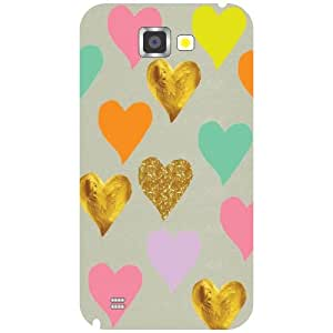 Samsung Galaxy Note 2 N7100 - Hearts Matte Finish Phone Cover