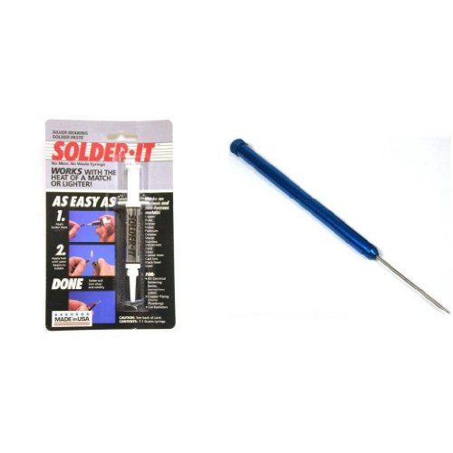 Silver Bearing Solder Paste & Titanium Soldering Pick Metal Repairs Kit 2 Pcs (Silver Bearing Solder Paste compare prices)