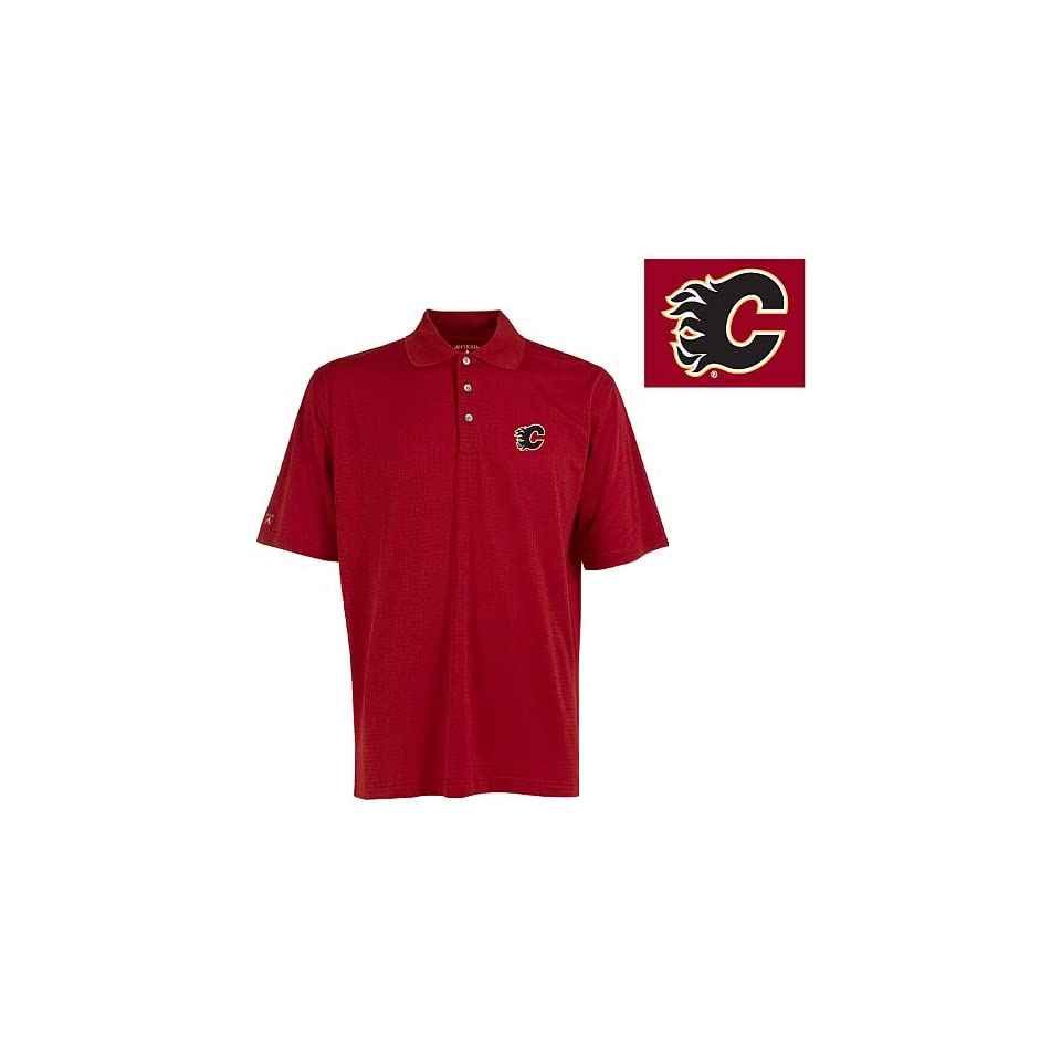Antigua Calgary Flames Power Play Polo Shirt Small