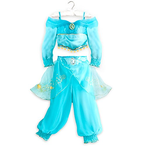 [Disney Store Little Girls 2 Piece Aladdin Princess Jasmine Costume (5/6)] (Jasmine And Aladdin Costumes)
