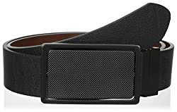 Buffalo Men's 40Mm Four Way Plaque Reversible Belt, Black/Brown, 44