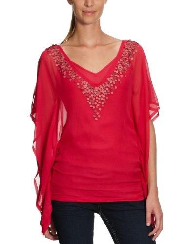 Antik Batik Top da donna, LEO1TEE Rot (pink) 46
