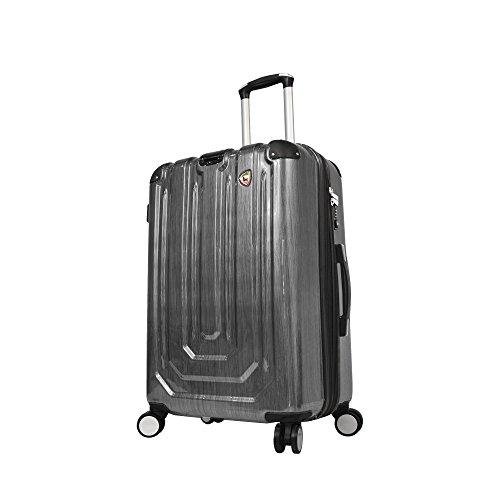 mia-toro-luggage-spazzolato-metallo-hardside-29-inch-spinner-black-one-size