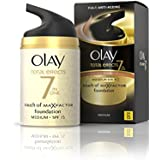 Olay SPF15 Total Effects Touch of Maxfactor Moisturiser Foundation - Medium - 50 ml