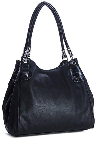 Big Handbag Shop Womens Multi Pockets Medium