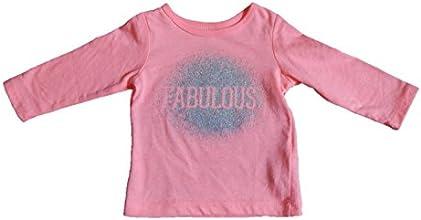Carter39s Girl39s LS Pink quotFabulousquot Glitter Tee 6 Months