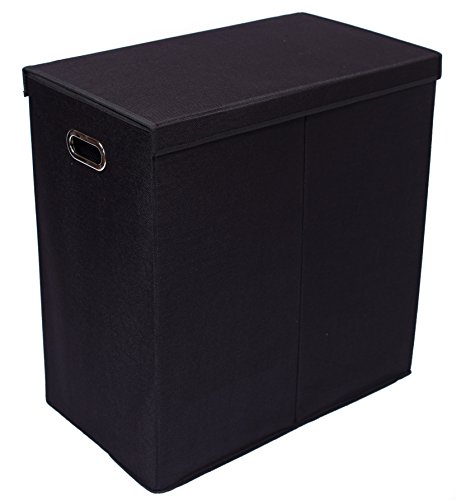 Birdrock Home Double Laundry Hamper With Lid And Removable