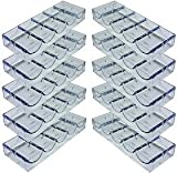 Set of 10 Acrylic Stackable 100-Chip Poker Chip Trays / Racks