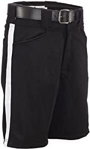 Buy FBS180-50 Smitty Football Officials Shorts - Black White Stripe WAIST SIZE 50 by Adams Manufacturing