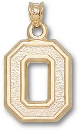 Ohio State Buckeyes No Leaf O 5 8 Pendant - 14KT Gold Jewelry by Logo Art