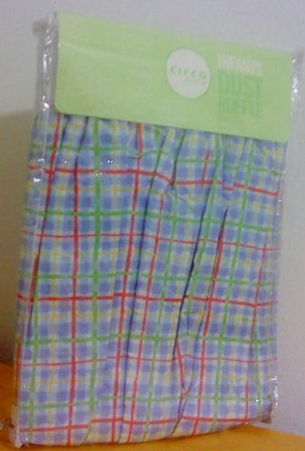 Circo Crib Dust Ruffle (Bed Skirt) Plaid