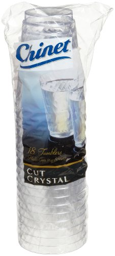 Chinet Cut Crystal Tumblers (14-Ounce), 108-Count Tumblers