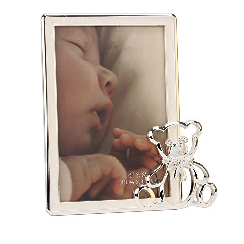 Teddy Bear Icon Silver Plated Photo Frame By Haysom Interiors - 1