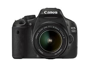 Canon EOS 550D Appareil photo numérique Reflex 18 Mpix Kit Objectif 18-55mm IS Noir