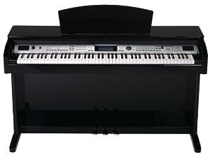 Classic Cantabile DP-400 Digitalpiano Schwarz-Hochglanz (88 Tasten E-Piano, 3 Pedale, 559 Sounds, 64-fach polyphon, Aufnahmefunktion, MIDI, USB)